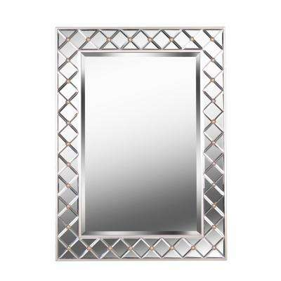 Quill Mirror Rectangular Champagne Wall Mirror