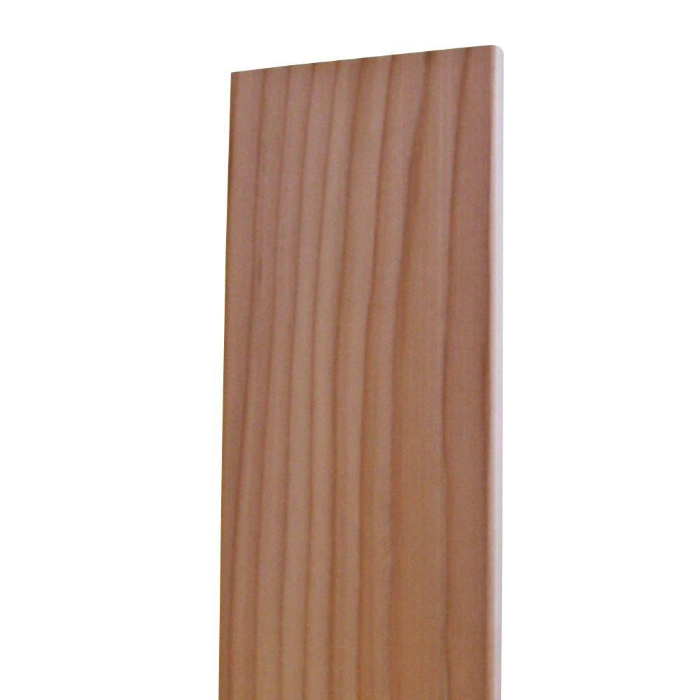 1 in  x 6 in  x 8 ft  Construction Heart S4S Redwood Board
