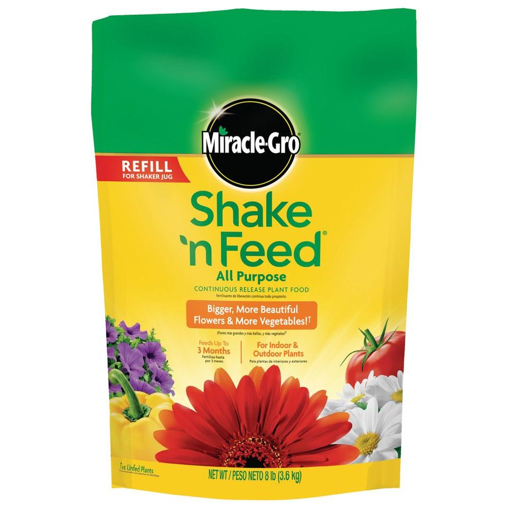 Miracle-Gro Shake 'N Feed 8 lb. All Purpose Continuous Release Plant Food Refill Bag