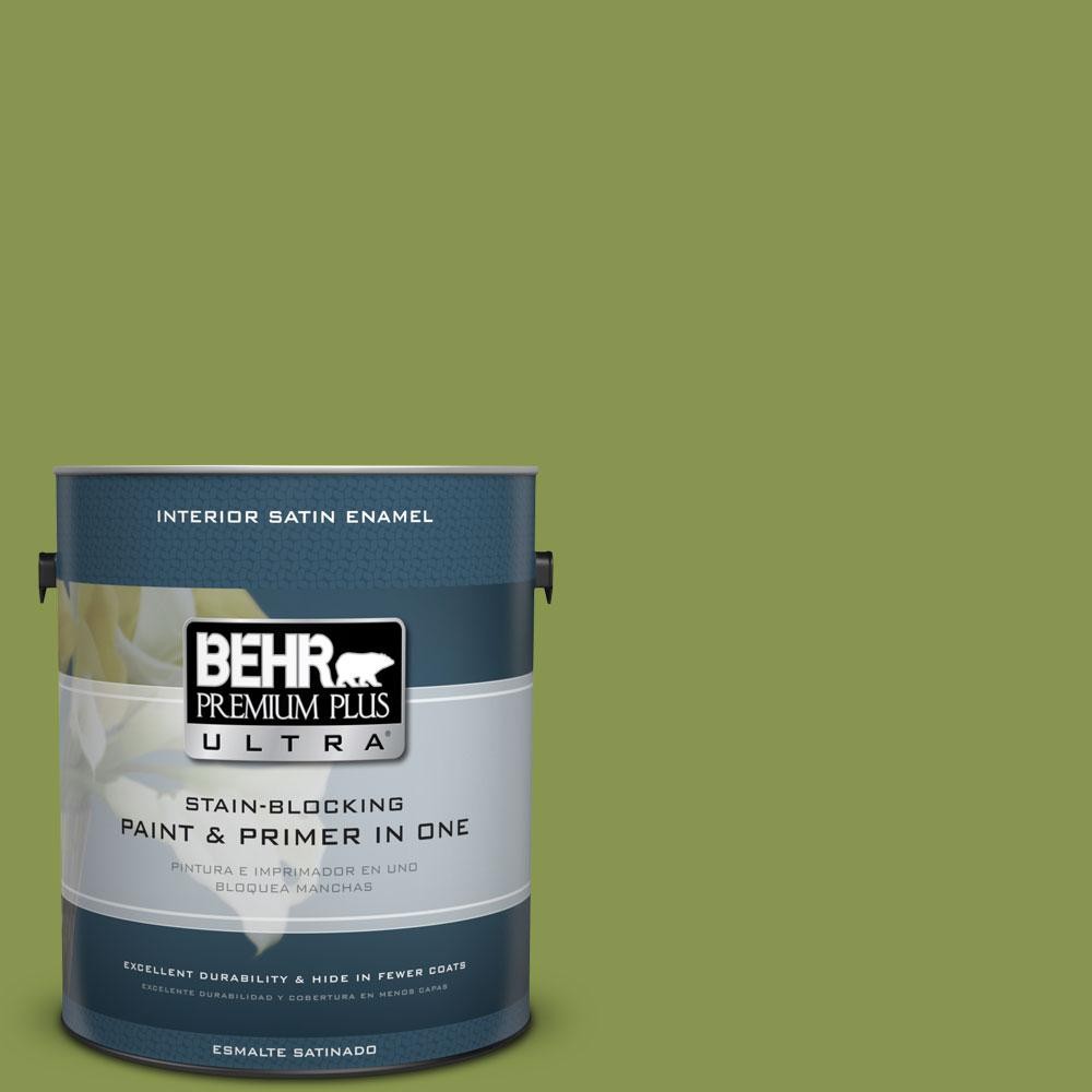BEHR Premium Plus Ultra 1-gal. #410D-5 Scotland Isle Satin Enamel Interior Paint