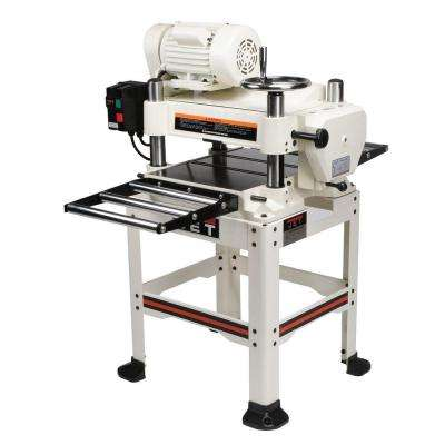 230-Volt, JWP-16OS 3 HP 2-Speed Feed 16 in. Industrial Woodworking Planer with Open Stand