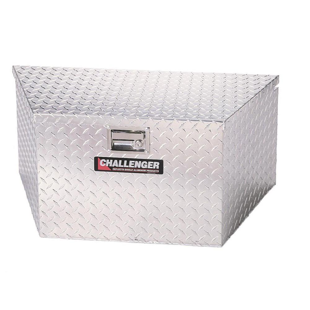 34.50 in Diamond Plate Aluminum  Trailer Tongue Truck Tool Box
