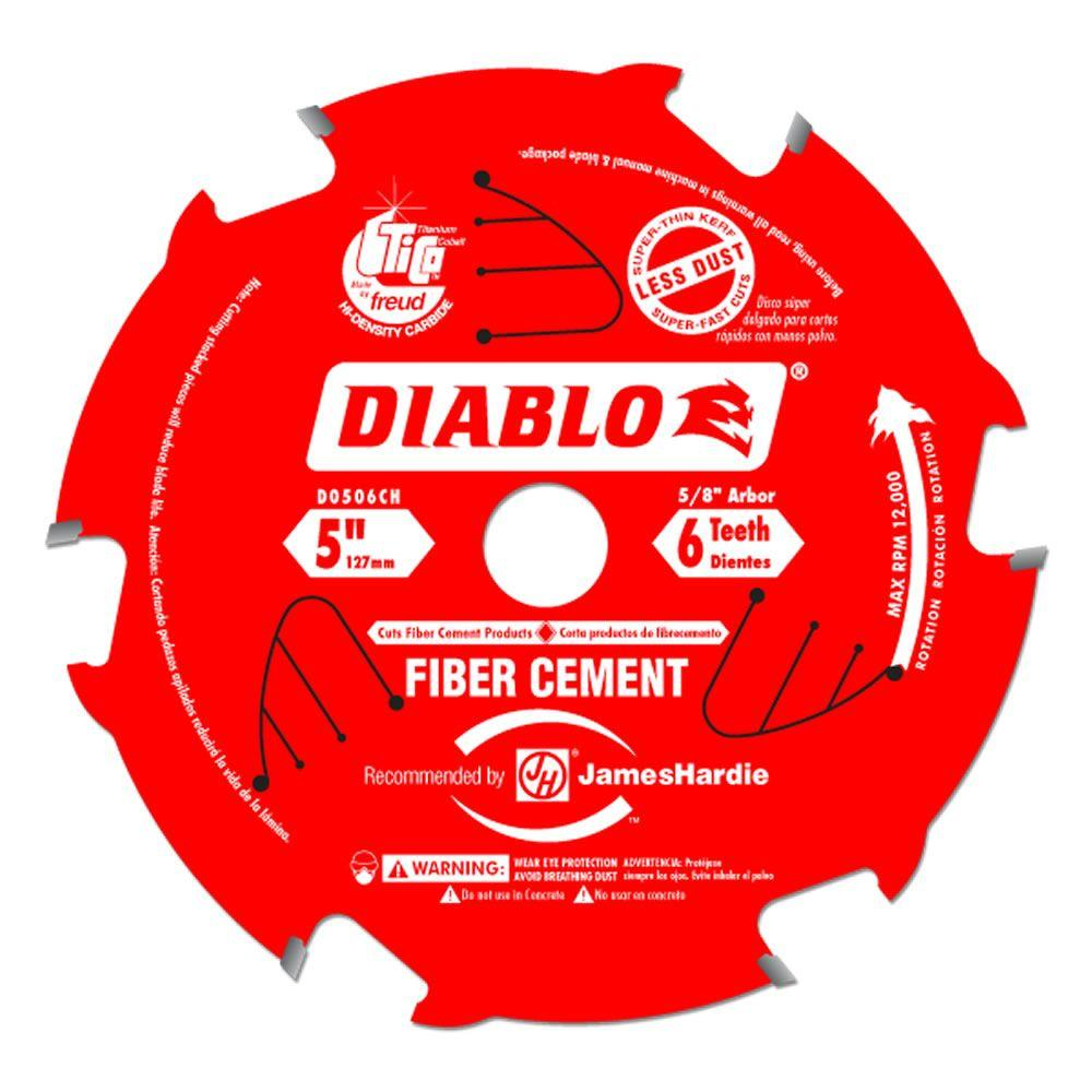 5 in. x 6 Tooth Fiber Cement Saw Blade
