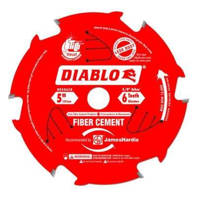 5 in. x 6-Teeth Fiber Cement Saw Blade