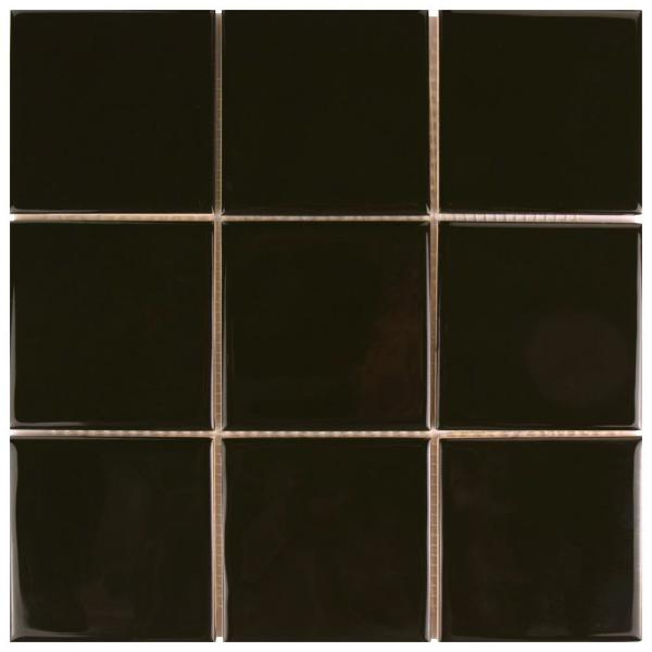 Twist Square Black Olive 11-3/4 in. x 11-3/4 in. Ceramic Mosaic (9.79 sq. ft. /Case)