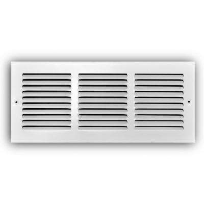 16 in. x 6 in. White Return Air Grille