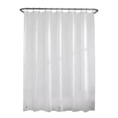 PEVA Heavy 7-Gauge 70 in. W x 72 in. H Shower Curtain Curtain Liner in White