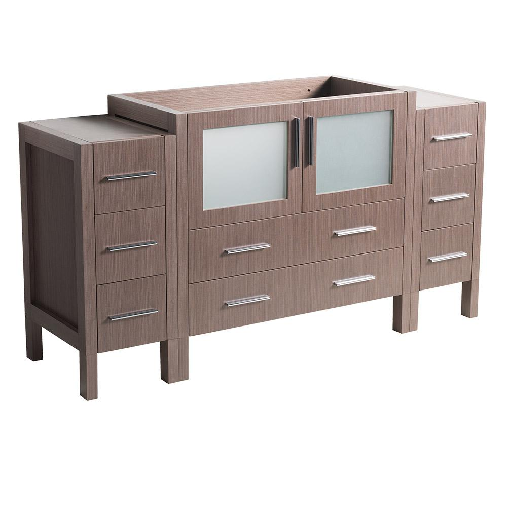 60 in. Torino Modern Bathroom Vanity Cabinet in Gray Oak
