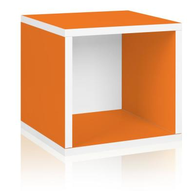 13 in. H x 13 in. W x 11 in. D Orange  Recycled Materials 1-Cube Storage Organizer
