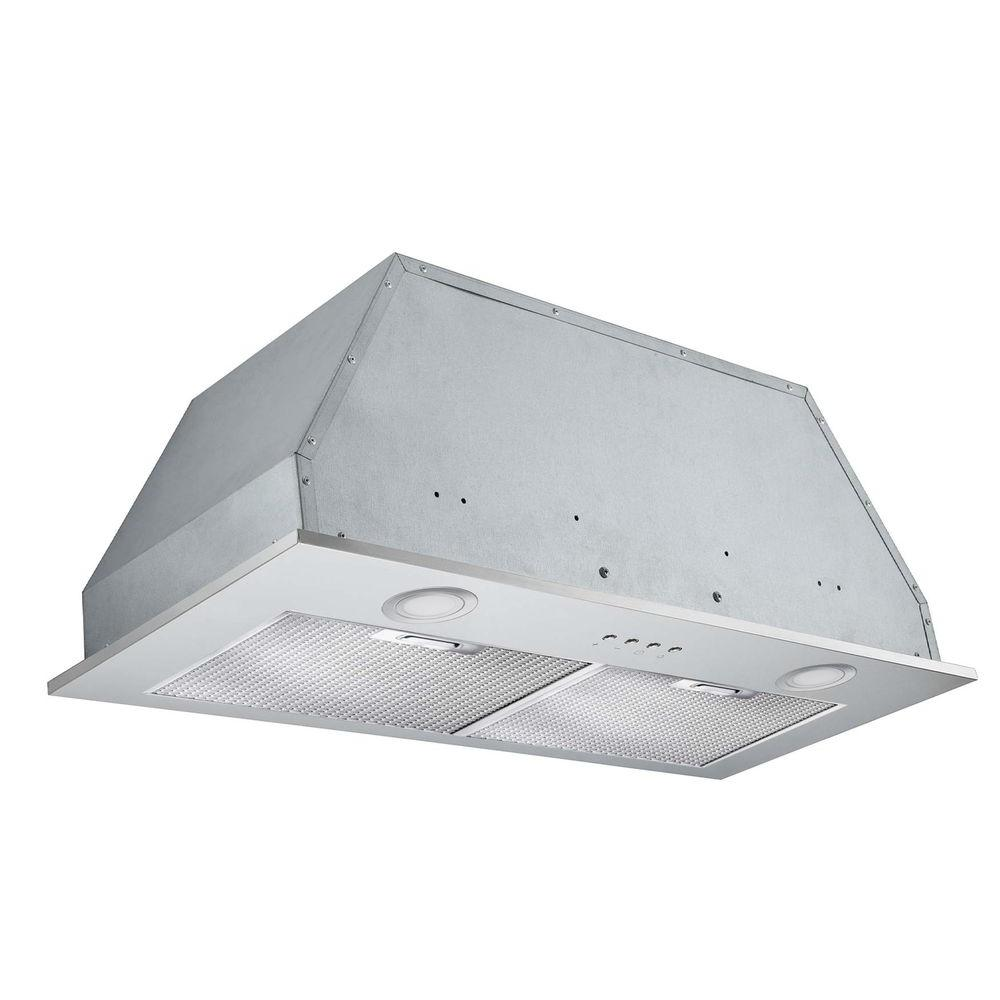 Ancona Insert Plus 28 in. Convertible Built-In Range Hood with Light in  Stainless
