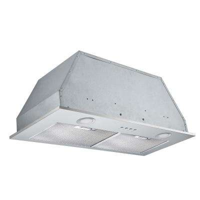 Insert Plus 28 in. Convertible Built-In Range Hood with Light in Stainless Steel