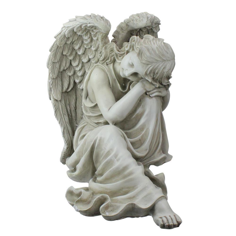 19 in. Peaceful Resting Angel Outdoor Garden Statue
