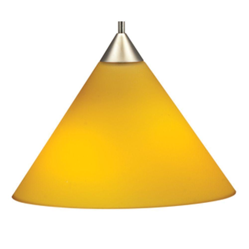 Juno 1-Light Sunset Gold LED Pendant Kit Short Cone