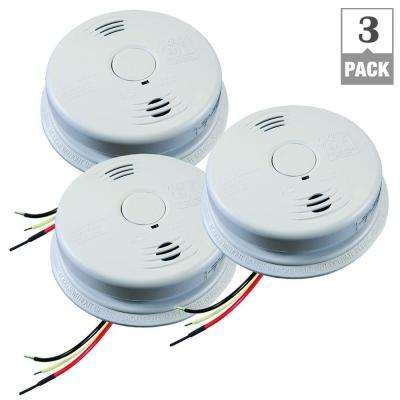 Worry Free Hardwired Combination Smoke and CO Alarm with Voice and Lithium 10-Year Battery Back Up (3-Pack)