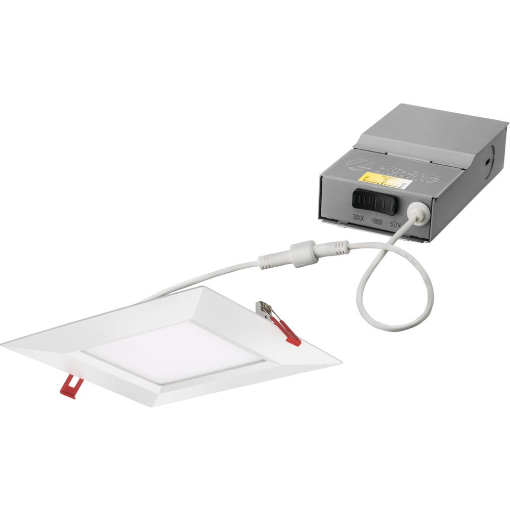 Lithonia Lighting Wafer 8 in. White Selectable New Construction or Remodel Recessed Integrated LED Kit was $41.05 now $22.64 (45.0% off)