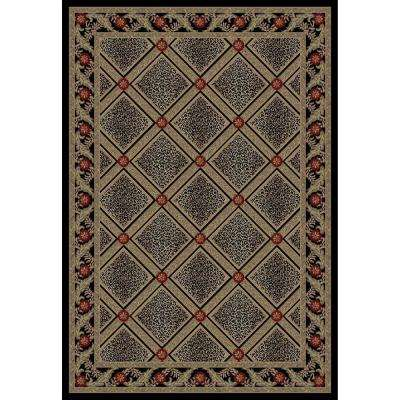Imperial Diamond Leopard Black 3 ft. 11 in. x 5 ft. 7 in. Area Rug