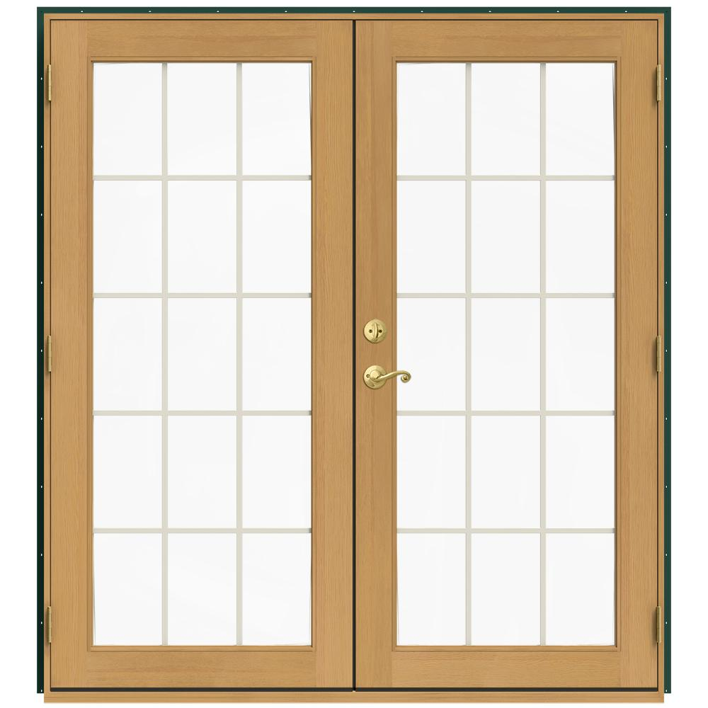 Jeld wen 71 5 in x 79 5 in w 2500 hartford green left for 5 patio door