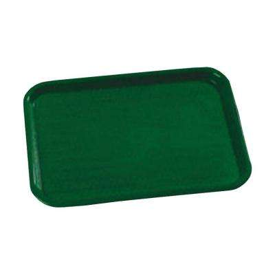 10.75 in. x 13.87 in. Polypropylene Cafeteria/Food Court Serving Tray in Forest Green (Case of 24)