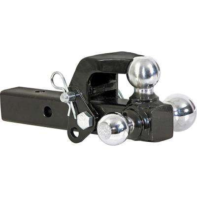 1-7/8 in., 2 in., 2-5/16 in. Chrome Towing Balls Tri-Ball Hitch with Pintle Hook