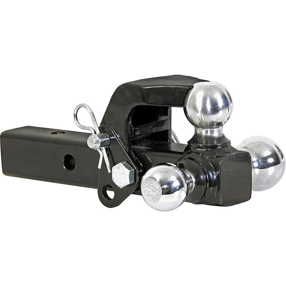 1-7/8 in., 2 in., 2-5/16 in. Chrome Towing Balls Tri-Ball Hitch