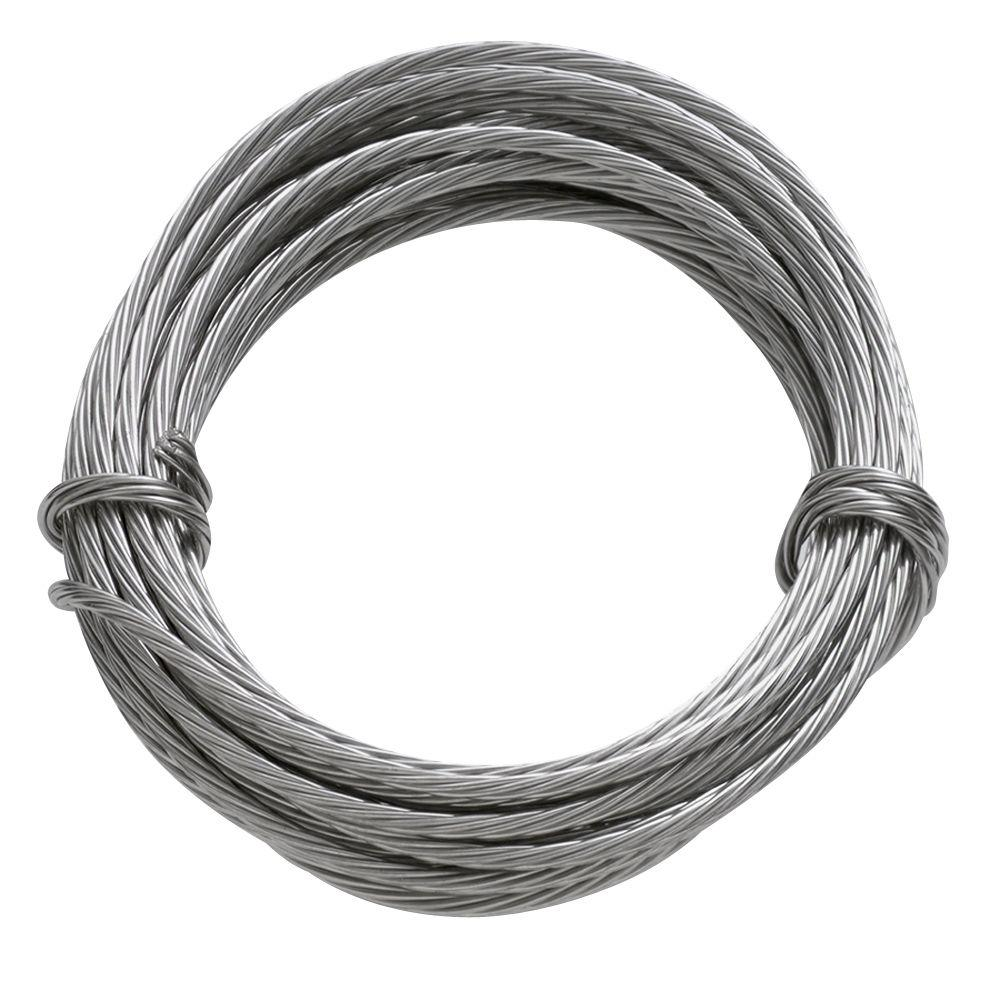 Ook 9 ft 100 lb stainless steel hanging wire 50116 the for Hang photos from wire
