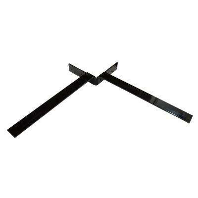 Independence 12 in. x 12 in. Black Steel Countertop Corner Bracket