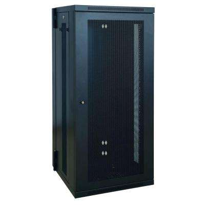 SmartRack 26U Low-Profile Switch-Depth Wall-Mount Rack Enclosure Cabinet, Hinged Back