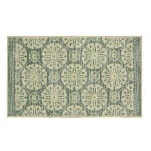 Mohawk Home Sand Dollar Medallion Aqua 1 ft. 8 inch x 2 ft. 10 inch Accent Rug by Mohawk Home