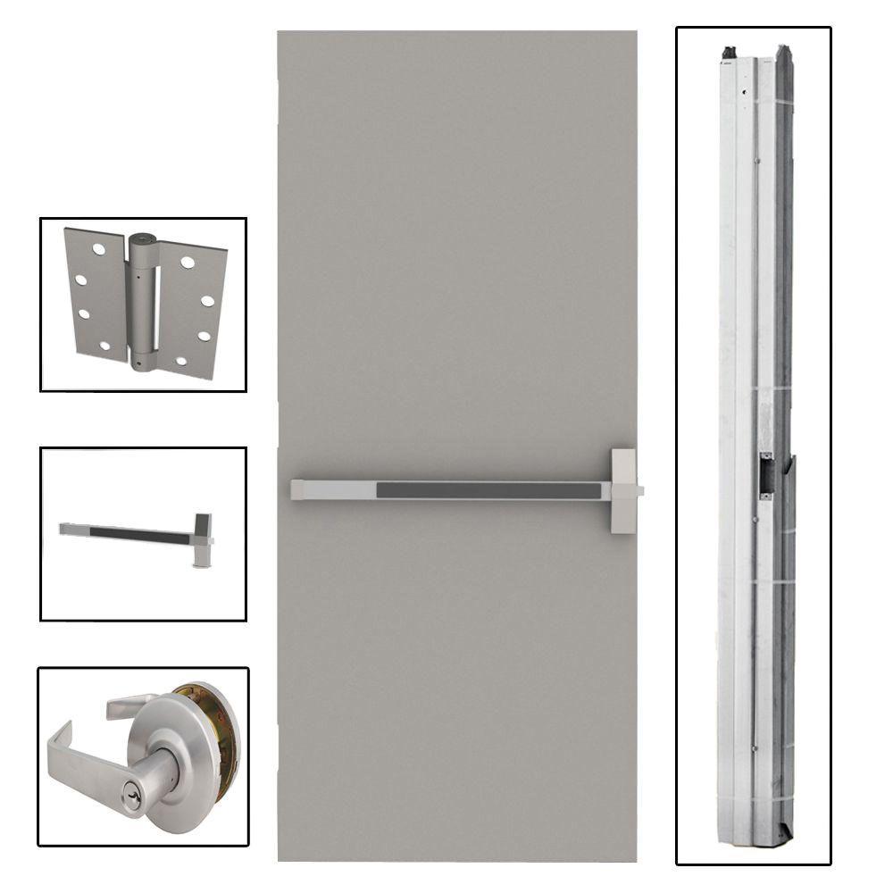 Home Depot Exterior Metal Doors: L.I.F Industries 36 In. X 84 In. Flush Gray Steel