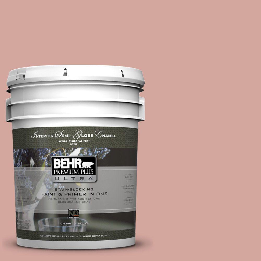 5-gal. #200E-3 Cinnamon Cocoa Semi-Gloss Enamel Interior Paint