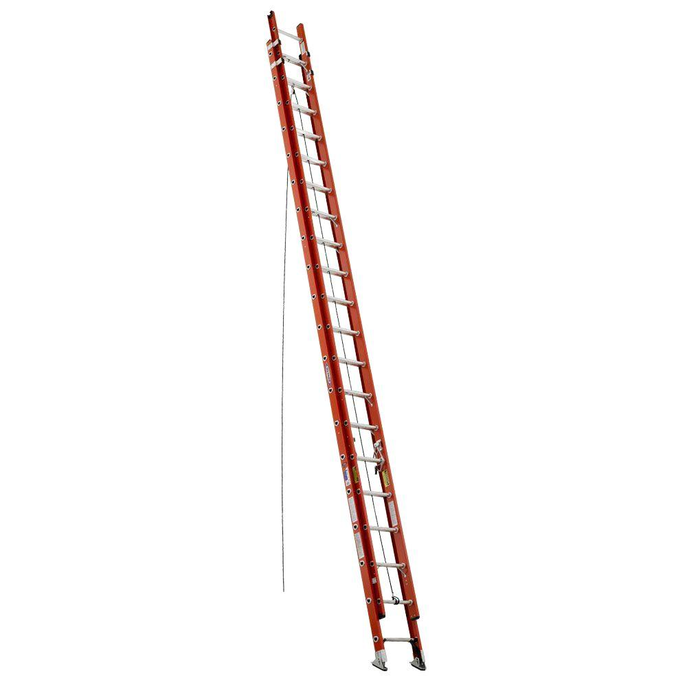 Werner 40 ft. Fiberglass D-Rung Extension Ladder with 300 lb. Load Capacity Type IA Duty Rating