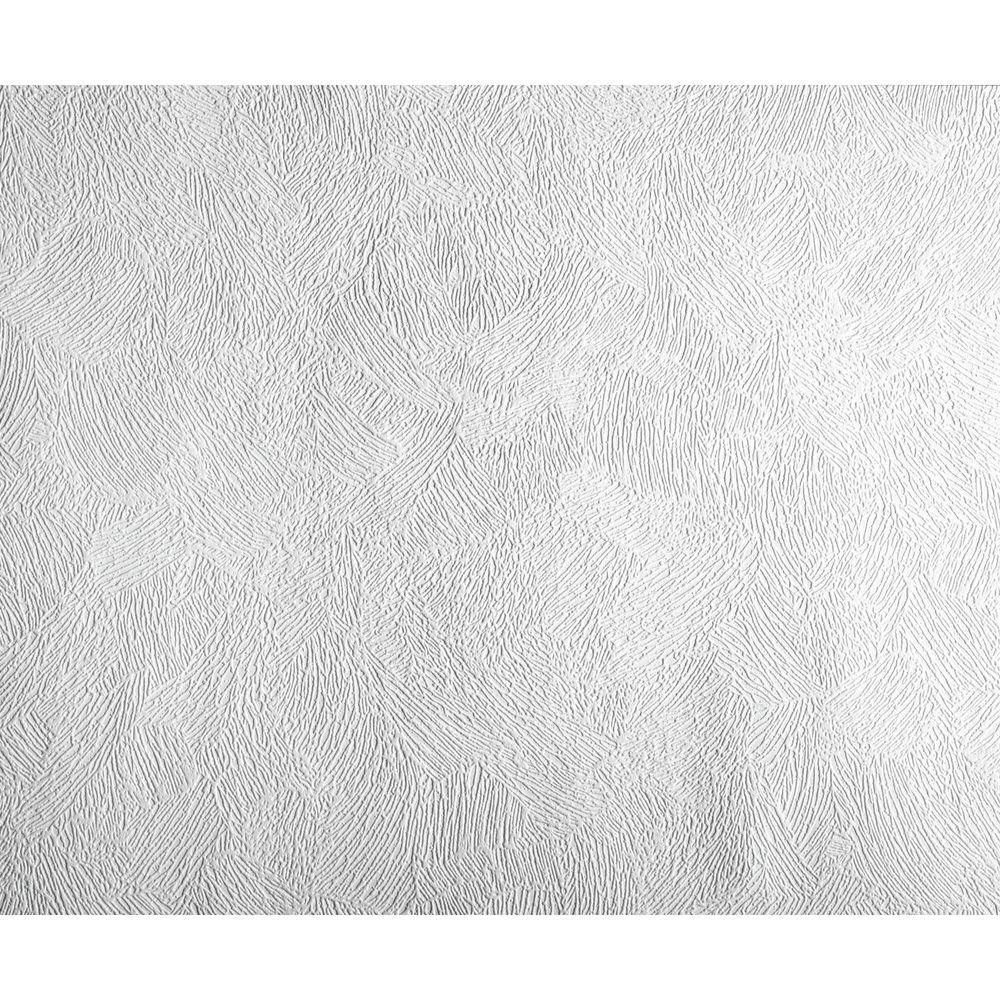 York Wallcoverings 57.75 sq. ft. Patent Decor Artist's Brush Paintable Wallpaper