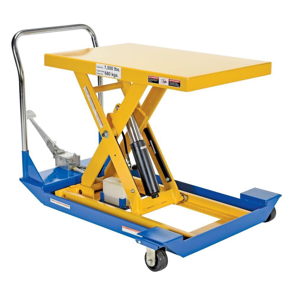 Vestil 36 in. x 24 in. 1,500 lb. Foot Pump Scissor Cart