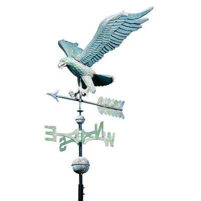 48 in. Verdigris Eagle Copper Weathervane