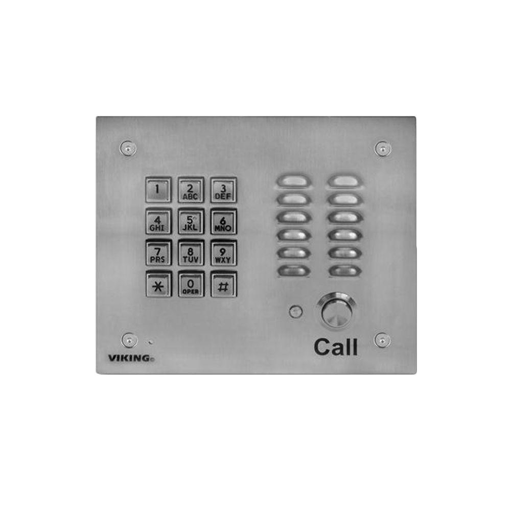 Viking Hands-Free Phone with Key Pad - Stainless Steel