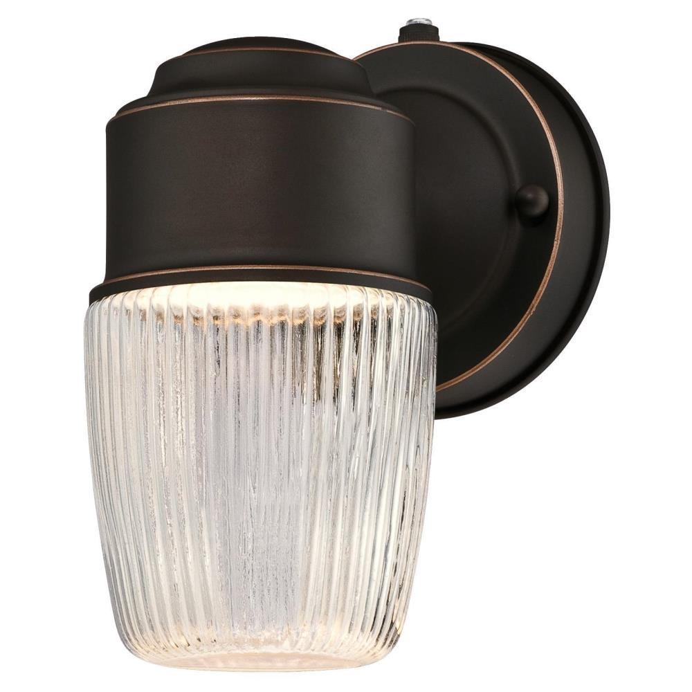 Westinghouse 1-Light Oil Rubbed Bronze Outdoor Integrated LED Wall Lantern Sconce with Dusk to Dawn Sensor