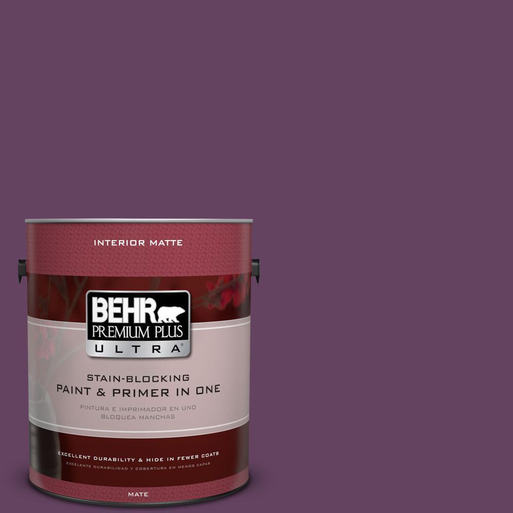1 gal. #BIC-36 Grape Fizz Matte Interior Paint