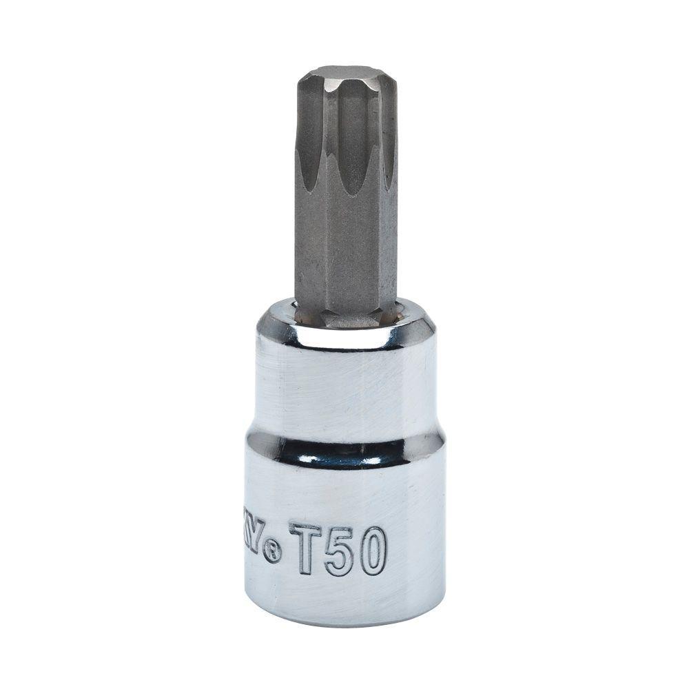 Husky t50 torx 3 8 in drive bit socket h3dhbst50 the - Douille torx femelle brico depot ...