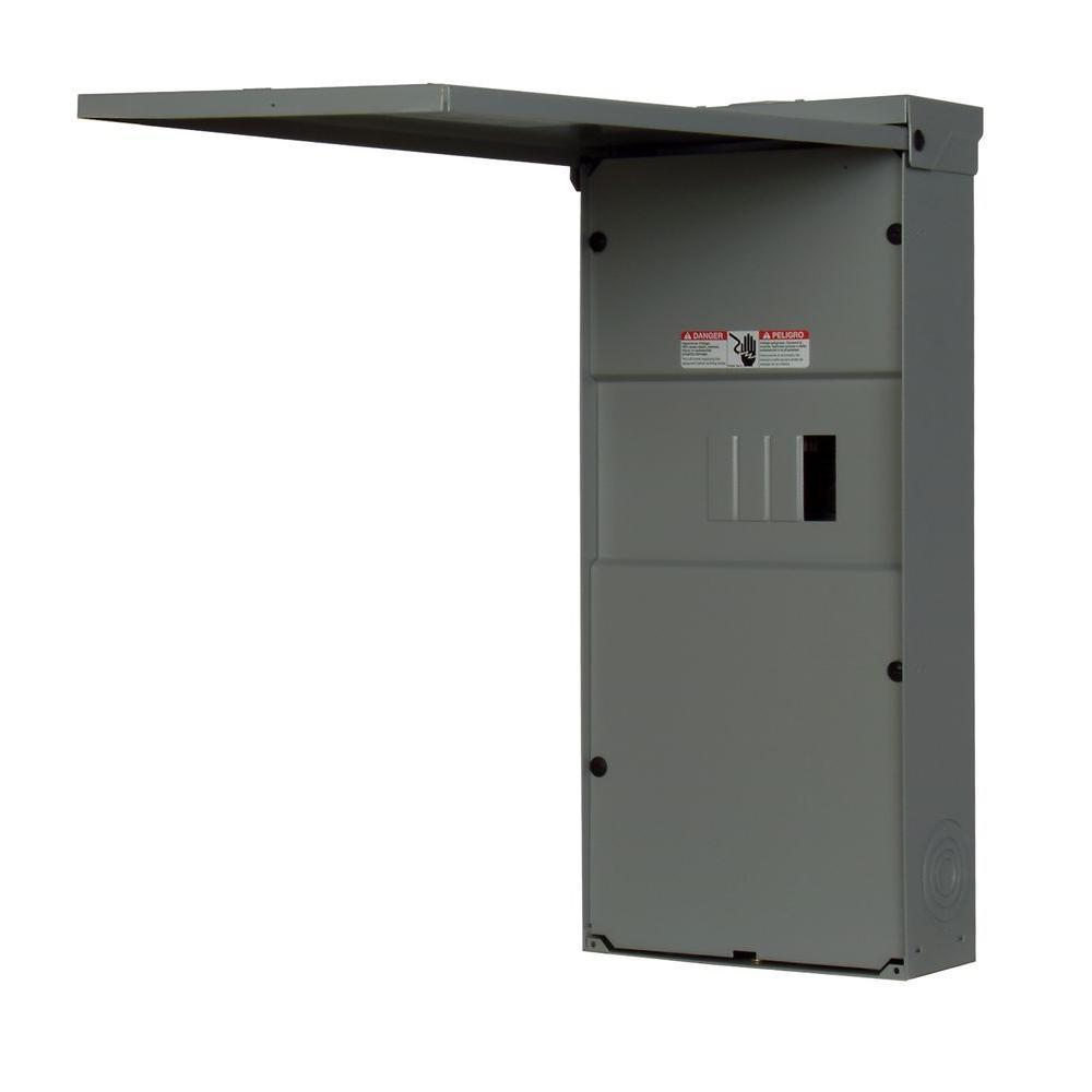 Siemens 125 Amp 2-Space 4-Circuit Outdoor Main Lug Load Center ...