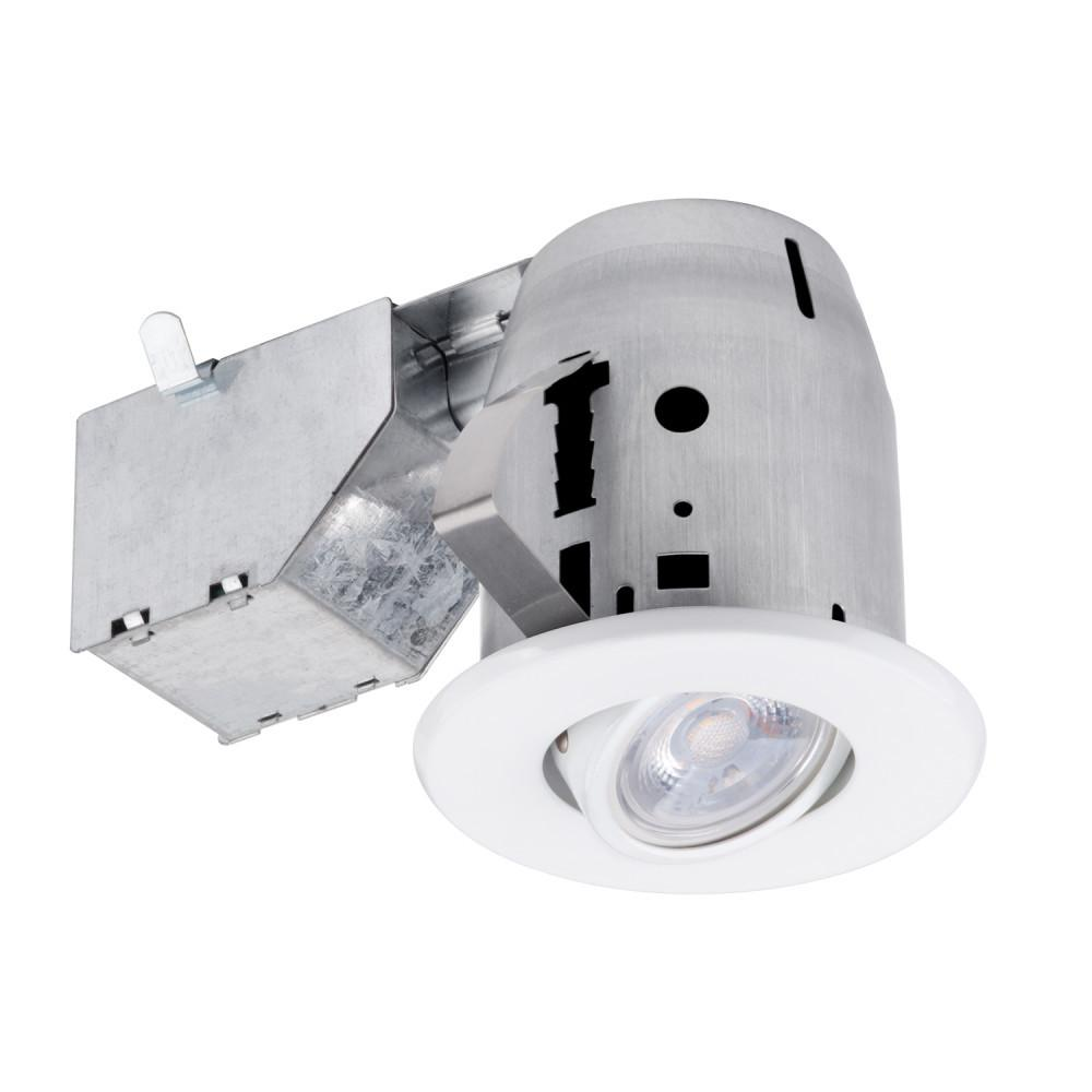 Commercial Electric Commercial Electric 3 in. New Construction or Remodel Recessed Kit with LED Bulb