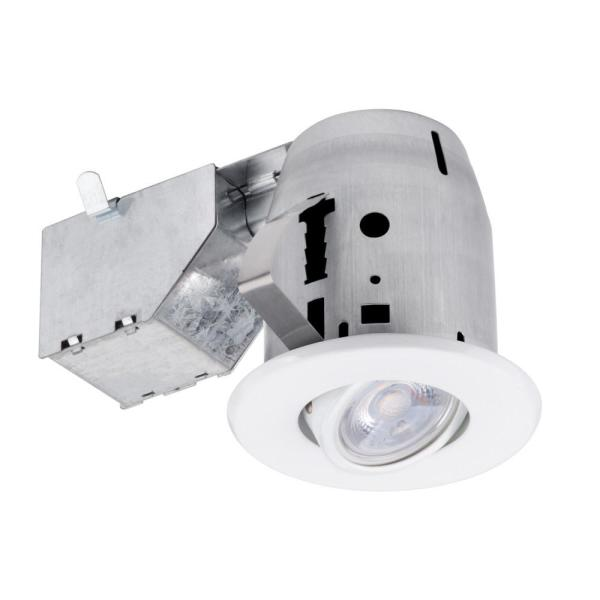 3 in. New Construction or Remodel Recessed Kit with LED Bulb