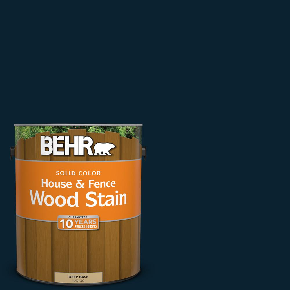 BEHR 1 gal. #SC-101 Atlantic Solid Color House and Fence Wood Stain