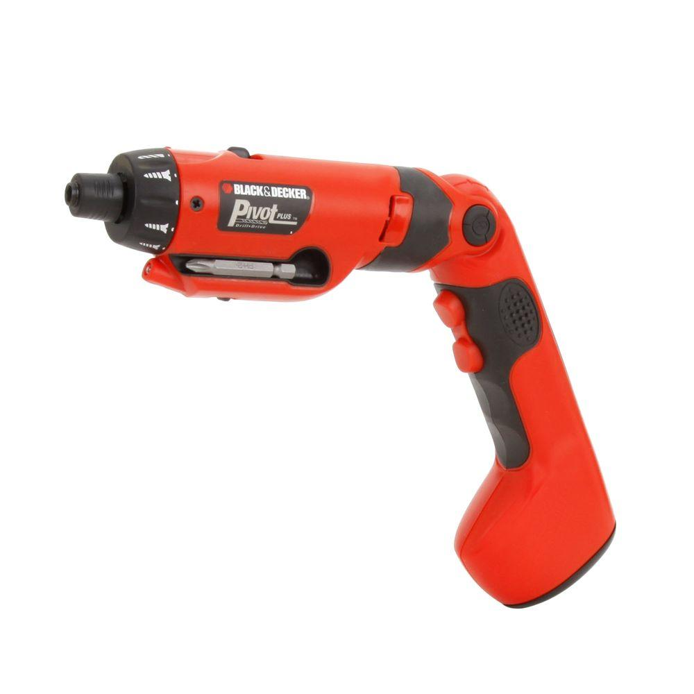BLACK+DECKER 6-Volt NiCd Cordless Rechargeable PivotPlus Drill/Driver with Charger