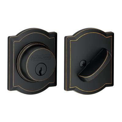 Camelot Aged Bronze Single Cylinder Deadbolt