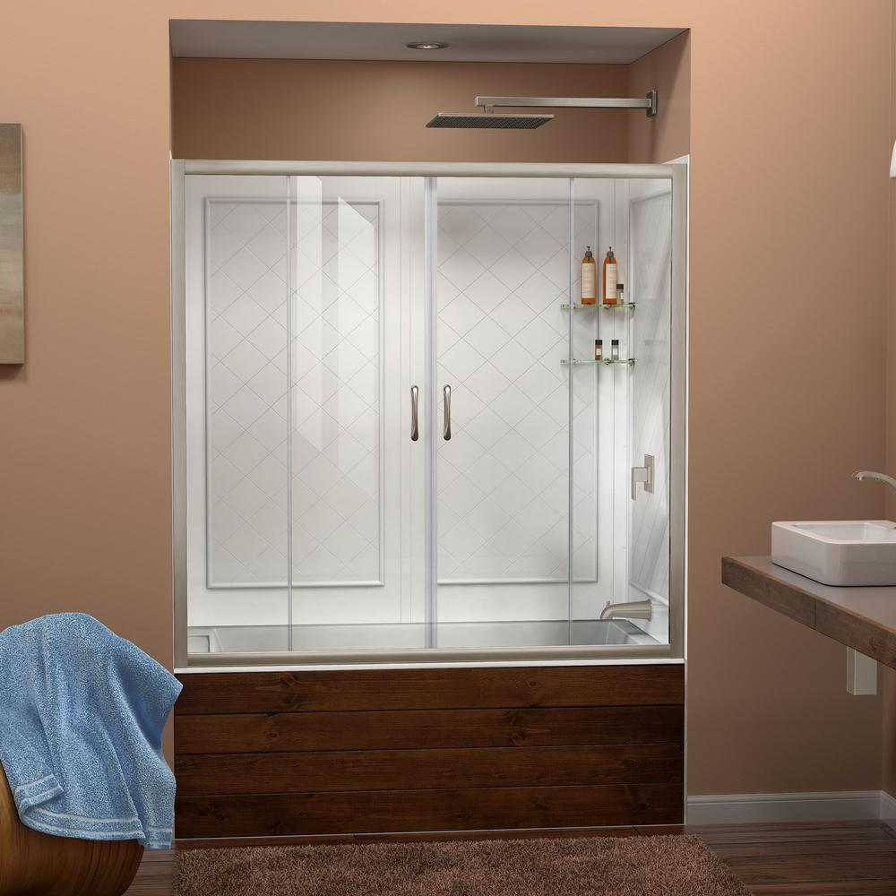 Visions 60 in. x 60 in. Framed Sliding Tub/Shower Door in