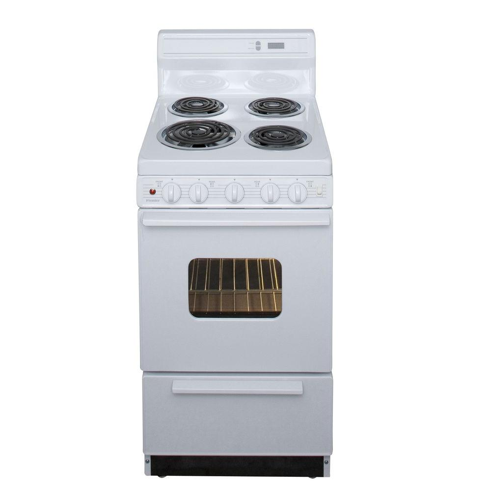 20 Electric Range >> Premier 20 in. 2.42 cu. ft. Electric Range in White