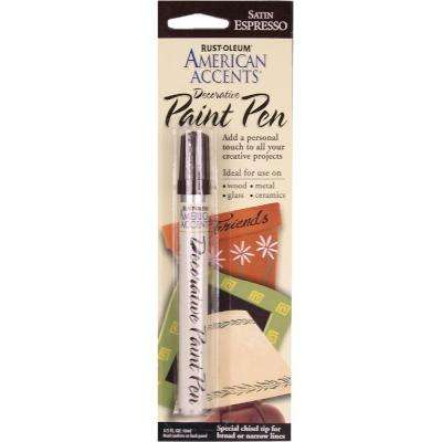 Satin Espresso Decorative Paint Pen (6-Pack)
