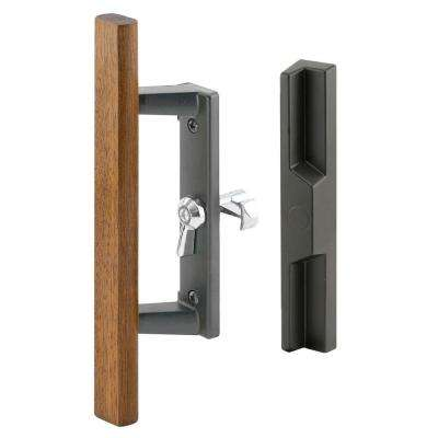 1-3/4 in. Black Sliding Door Handle Assembly with 3-15/16 in. Hole Center