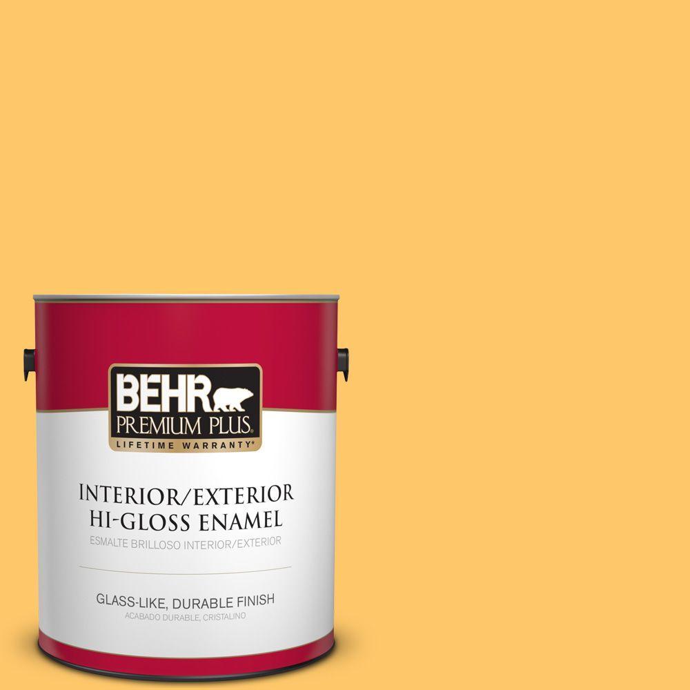 1 gal. #HDC-SP16-05 Daffodil Hi-Gloss Enamel Interior/Exterior Paint