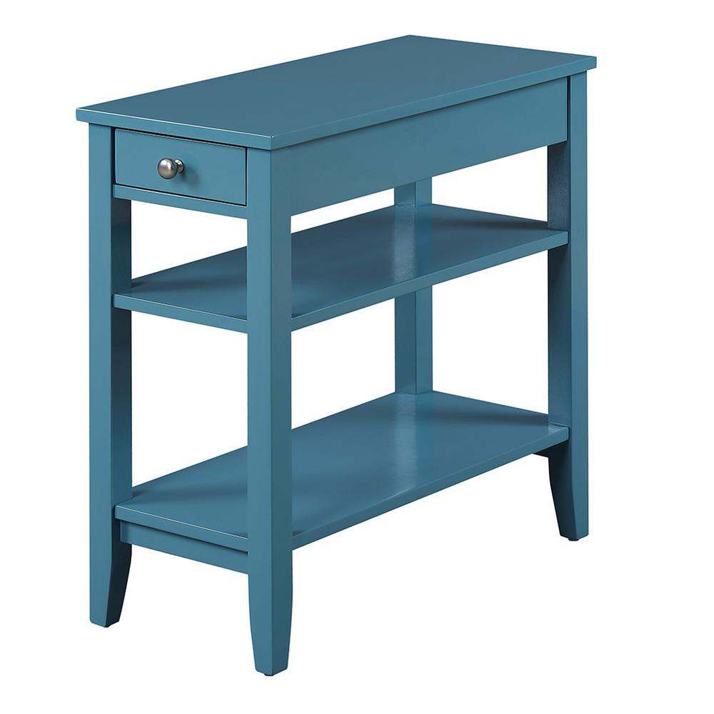 Convenience Concepts American Heritage Blue Three Tier End